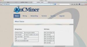 knc jupiter - cgminer status