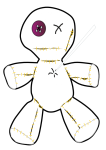 voodoo_doll_black_white_line_art_coloring_book_colouring-555px