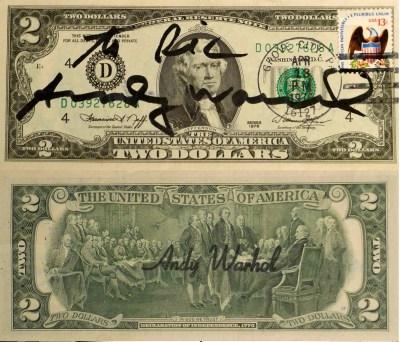 Произведение Two Dollars Jefferson Энди Уорхола. Начальная ставка $13 000