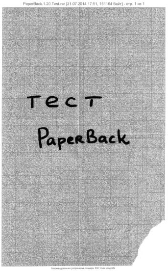 Рисунок 4 – Поврежденный лист данных (видны линии сгибов после хранения листа в свернутом виде, оторванный уголок, посторонние надписи).