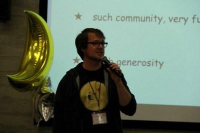 Создатель догкойна Джексон Палмер на конференции Dogecon SF в апреле 2014 года