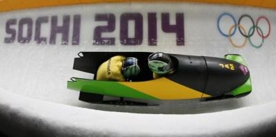 Уинстон Уоттс и Марфин Диксон в составе сборной Ямайки по бобслею на зимних Олимпийских играх 2014 в Сочи