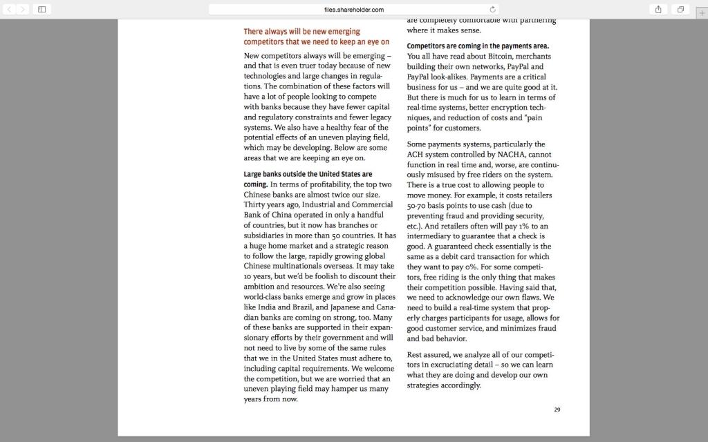 Фрагмент письма Джейми Даймона