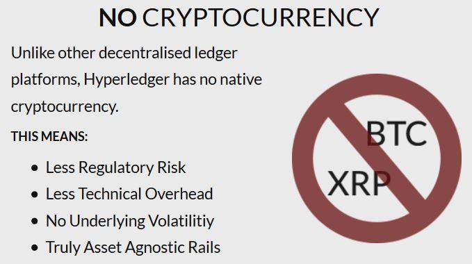 """Из описания деятельности Hyperledger: No cryptocurrency (""""Никакой криптовалюты"""")"""
