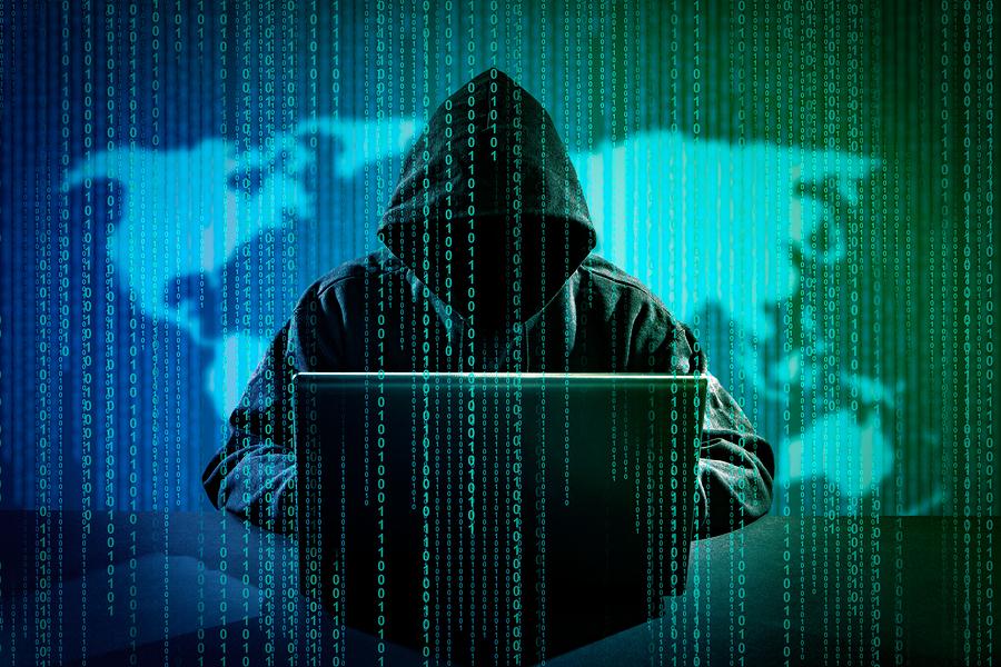 Computer Crime Concept.