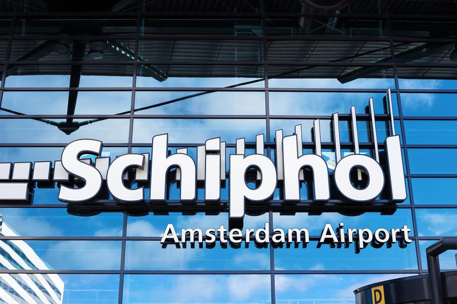 Амстердам, аэропорт, биткоин-банкомат