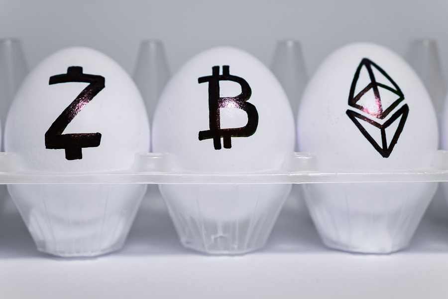BTC, ETH, EOS, ZEC, XMR курс биткоина график
