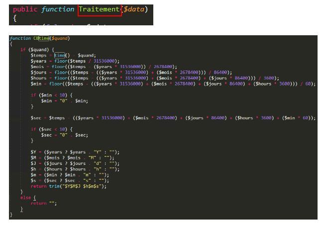 Некоторые переменные и функции в коде были на французском языке